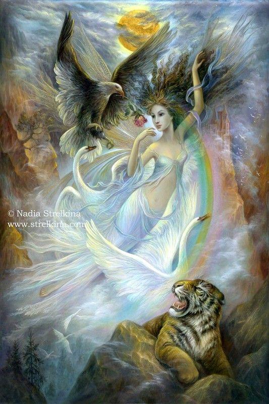Beaux  tableaux de Nadezhda Strelkina  '' fantasie'' .......................lbxxx.