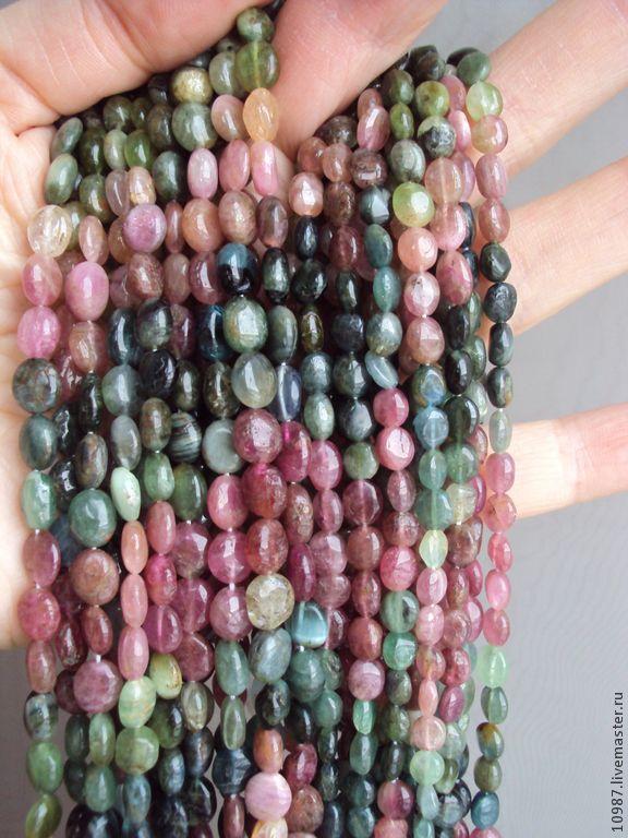 Купить Турмалин. Овал. - турмалин, натуральные камни, розовый турмалин, зеленый турмалин, бусины, турмалины