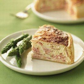 Quiche au Jambon Cuit Weight Watchers et aux asperges
