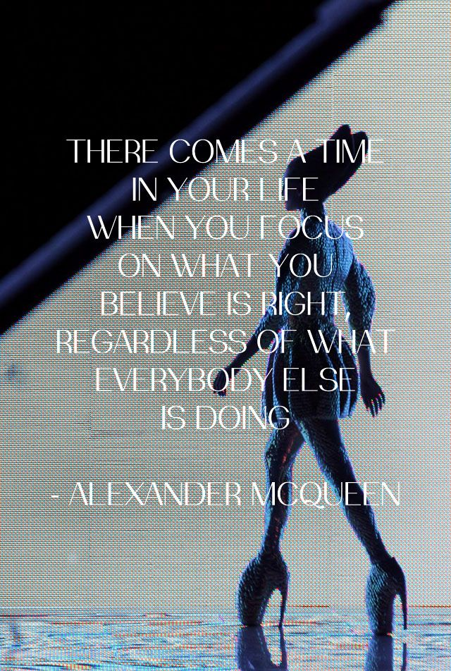 Alexander McQueen (quote) SS2010 (collection) #PurelyInspiration