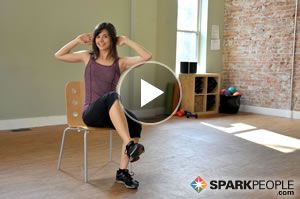 Work your abs while you sit at your desk chair! 12-Minute Seated Core Workout | via @SparkPeople #fitness #exercise #video