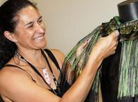 Tracey Huxford one of New Zealand's internationally acclaimed Maori weavers