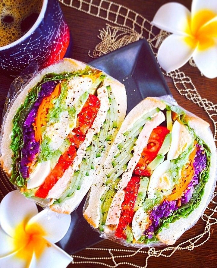 いいね!1,389件、コメント5件 ― SnapDishさん(@snapdish)のInstagramアカウント: 「Kaoさんのお料理「20170623 自分弁当〜もりもり野菜サンド」 #snapdish #foodstagram #instafood #food #homemade #cooking…」
