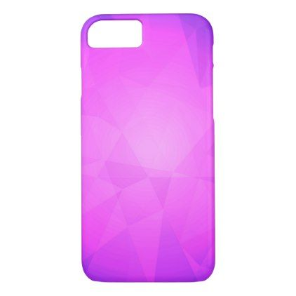 Abstract glow light purple triangle background iPhone 8/7 case - light gifts template style unique special diy