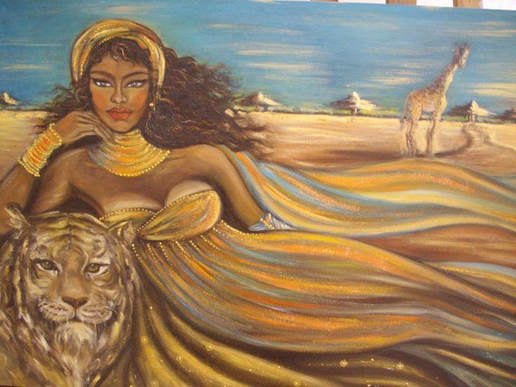"""""""Safari"""", olio su tela, 60x120 cm"""