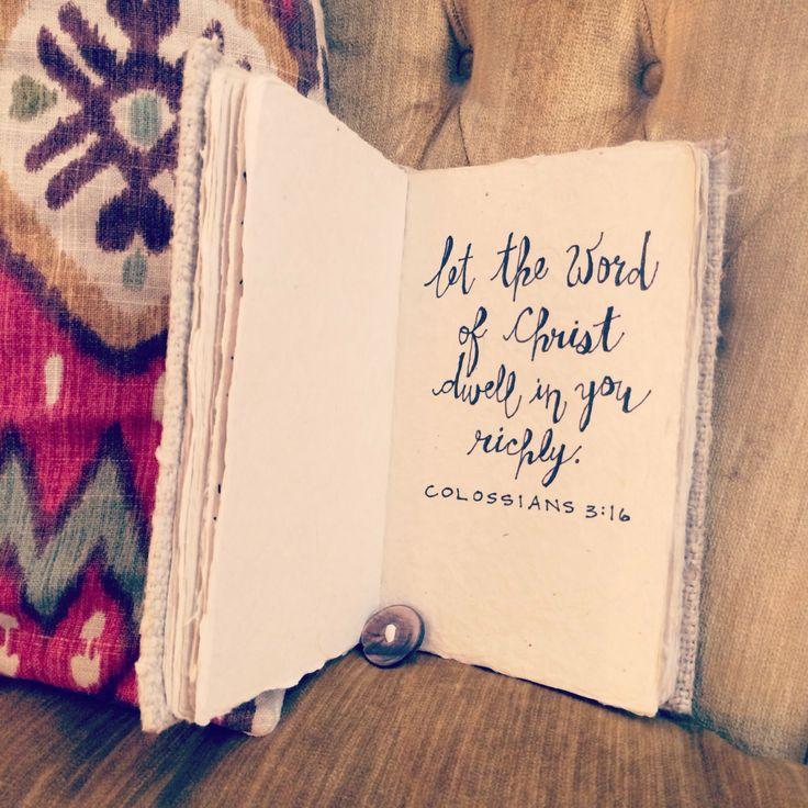 Colossians 3:16 #suttonleighdesigns