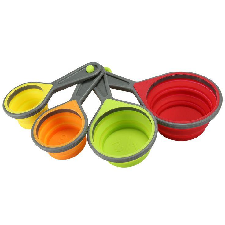 Jogo de Colheres Medidoras Silicone Fun Cook 4 Peças - C de Casa