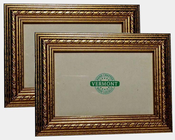 FRAME SET~Weathered Gold Photo Frames~Wood~Ornate Gold Frame Set~4x6, 5x7, 8x10 #HandmadeInVermont #Traditional