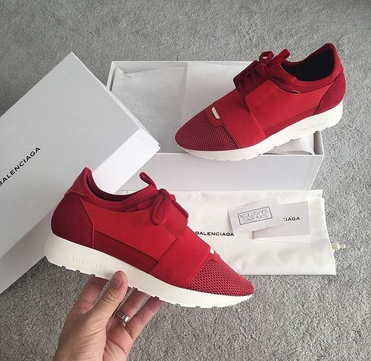 Red Balenciaga Runners