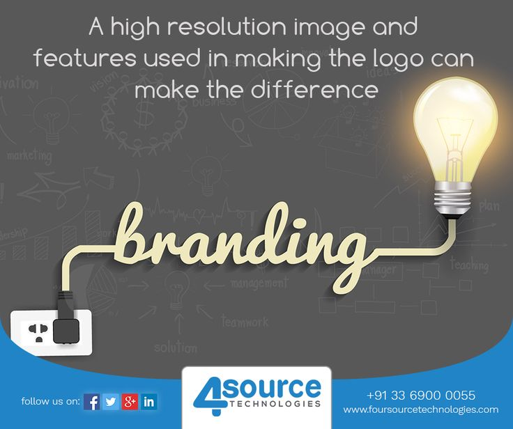 Your logo is an important part of your brand. At Four Source we make sure that, a sleek logo of your brand can be well reflected.