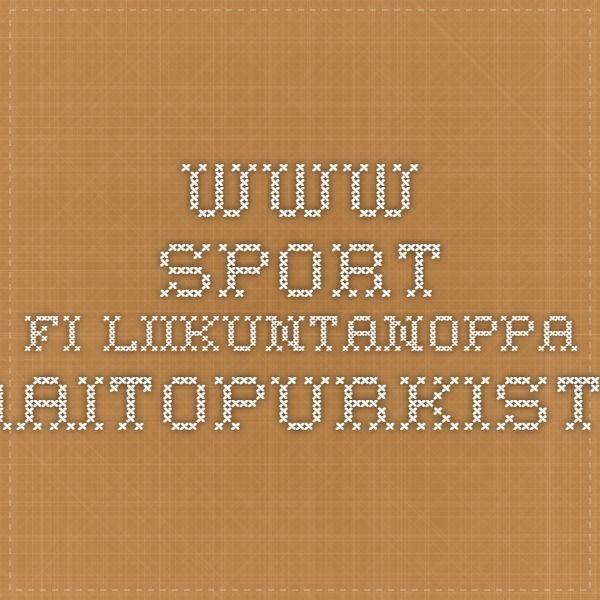 www.sport.fi Liikuntanoppa maitopurkista