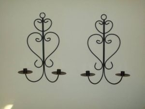 Wrought Iron Wall Sconces For Candles