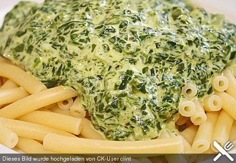 Spinat - Frischkäse - Soße