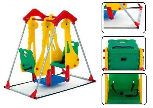 Children Garden Swing Kids Outdoor Toy Toddler Playground Set Double Seat New #BabyVivo