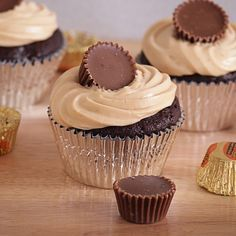 Chocolate Peanut Butter Cupcakes. I'm making these cupcakes with my new stand mixer!!