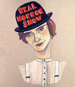 A Clockwork Orange: Alex Delarge. Portrait of a real horrorshow