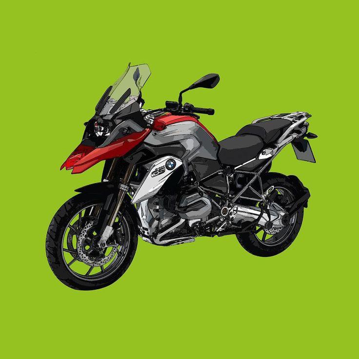 Bmw R1200GS  Si te gusta mis trabajos, Sígueme. If you like my artworks, Follow me.  #bmw #bmwmoto #bmwmotorrad #r1200gs #bmwr1200gs #alvarodintenmoto #diseño #dibujo #drawing #draw #moto #motorbike #motorcycle #designer #green #bmwgs #gs #1200gs #Instamoto