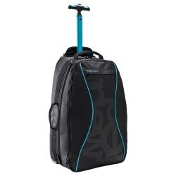 Valise à roulettes / Sac à dos Sport 35L noir / bleu