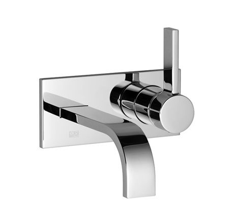 MEM 36826782 Wall-mounted single-lever basin mixer with cover plate