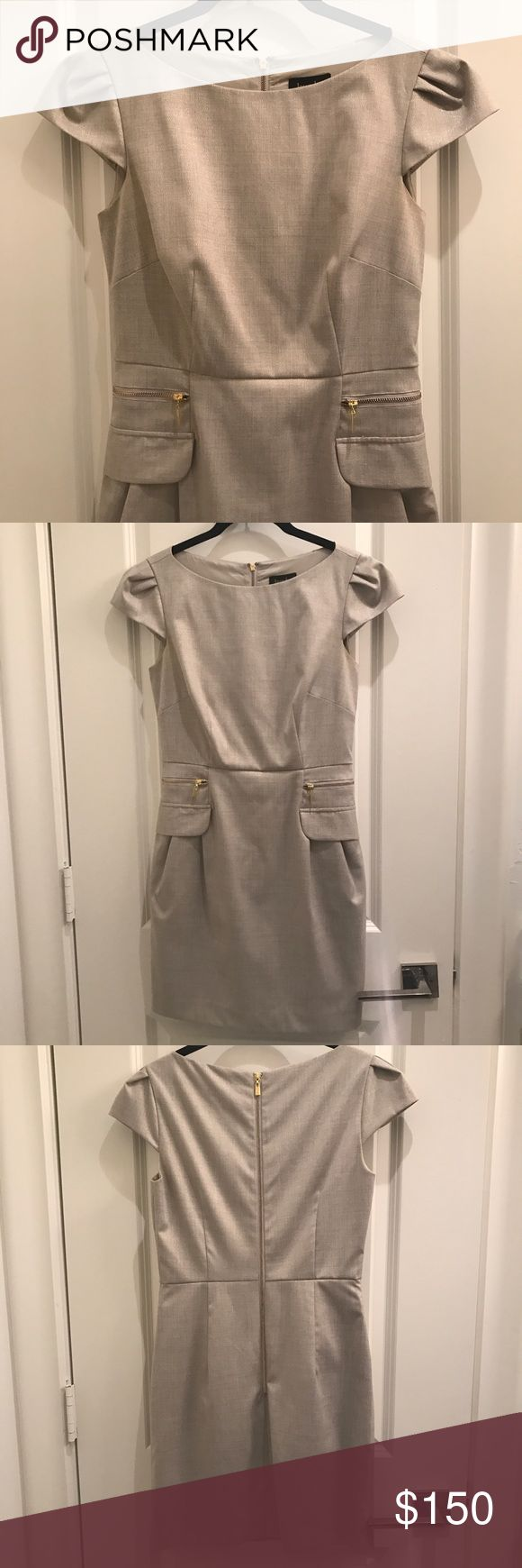 Laundry Dress Laundry Dress khaki and gold.   Like New! Laundry by Shelli Segal Dresses