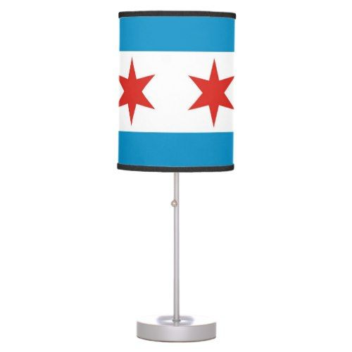 chicago city flag united states america table lamp