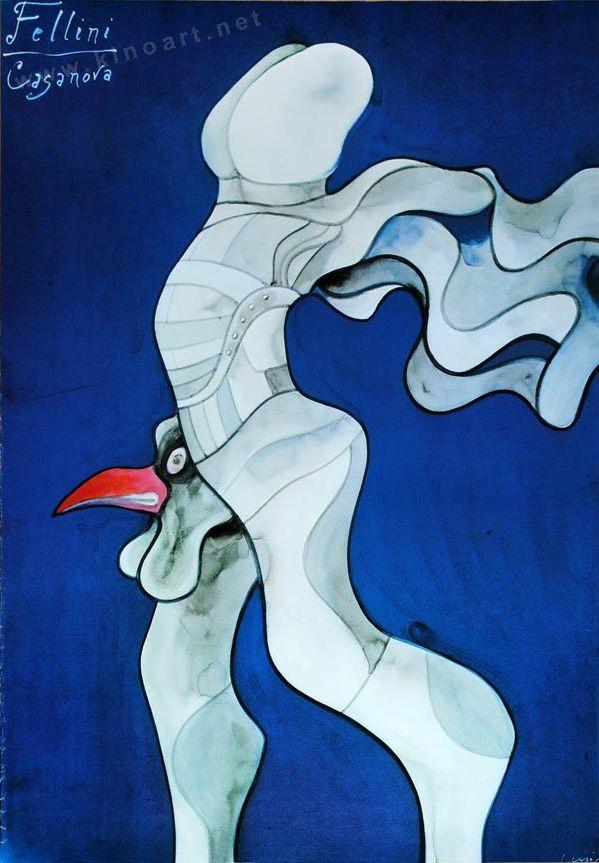 Movie poster by Lenica, 1976,  Fellini's Casanova. (P)
