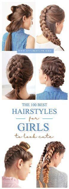 Über 100 inspirierende und einfache Frisuren, um Mädchen süß aussehen zu lassen - # look #without #simple #styles #inspiring