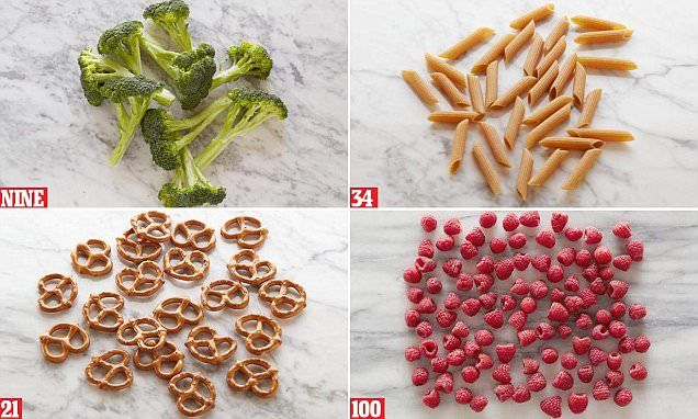what does 100 calories of pasta look like
