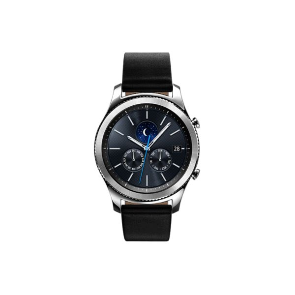 Samsung Gear S3 Classic Smart Watch - Dark Silver Description:  Get things done while remaining at the height of fashion with the stylish and innovative Samsung Gear S3 Classic Smart Watch.    Key Features  Easy to use, the Samsung Gear S3 Classic Smart Watch allows you to make and receive calls, read messages, or go to the app you need with a simple twist of its bezel. Thanks to a built-in speaker, you can make or take calls directly from your Gear S3. Integrated with a GPS function, the…
