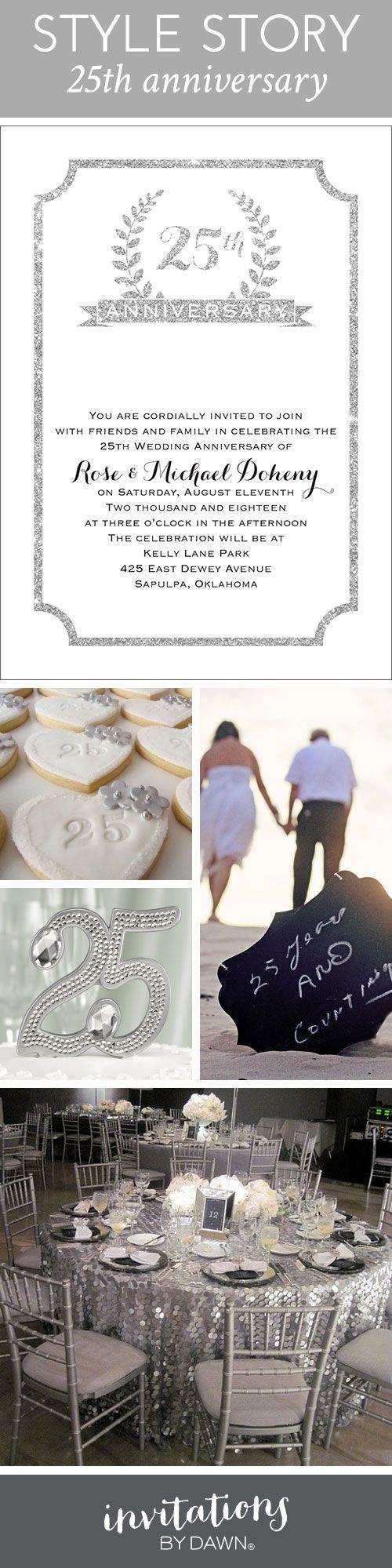 sapphire wedding anniversary invitations%0A Style Story    Th Anniversary  Anniversary Invitations   Wedding