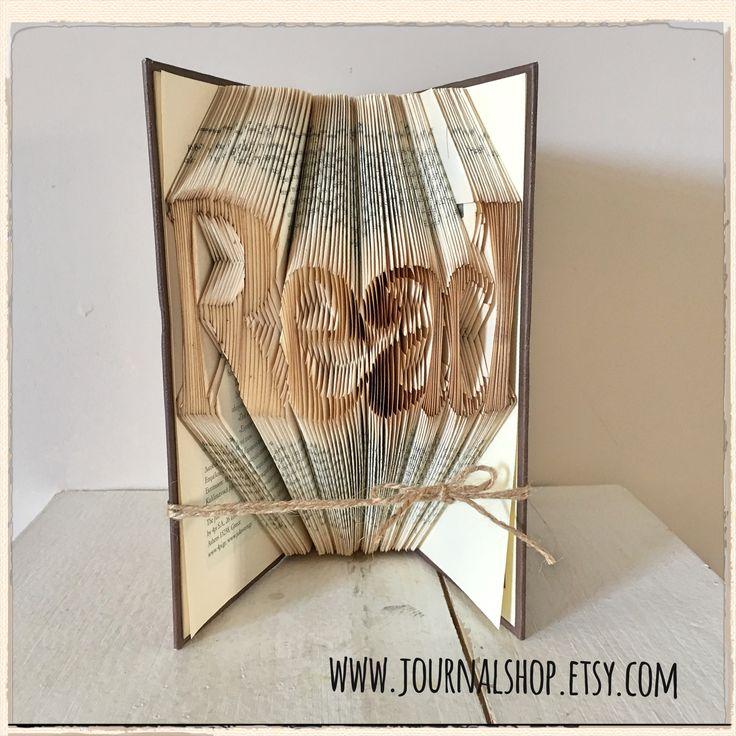 Bookfolding for a gift.