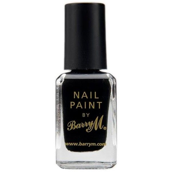 Barry M Halloween Nail Polish Black ($4.62) ❤ liked on Polyvore featuring beauty products, nail care, nail polish, nails, makeup, beauty, fillers, black, barry m and barry m nail varnish