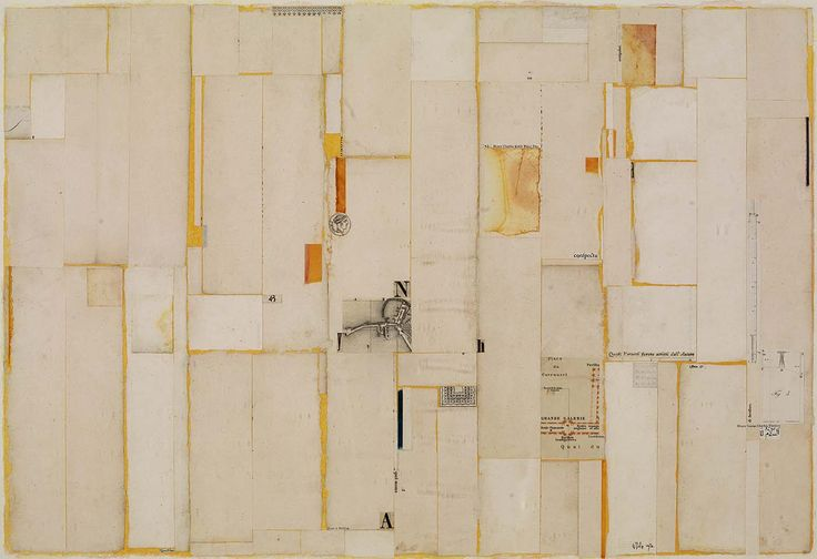 William Dole, South of Garden Grove, 1976, collage on paper 171/4 x 251/2 in.
