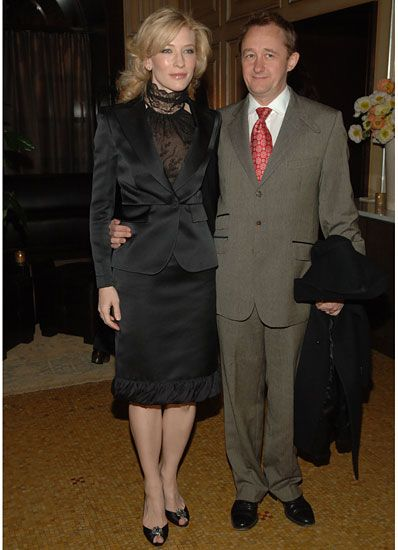 Cate Blanchett and husband Andrew Upton attend Gucci's Cate Blanchett dinner. (March 2006)
