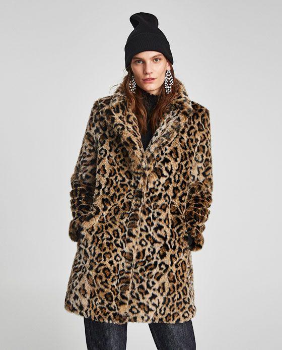 e636e31ddf9db Image 2 of FAUX FUR LEOPARD PRINT COAT from Zara | Fashionista Mom ...