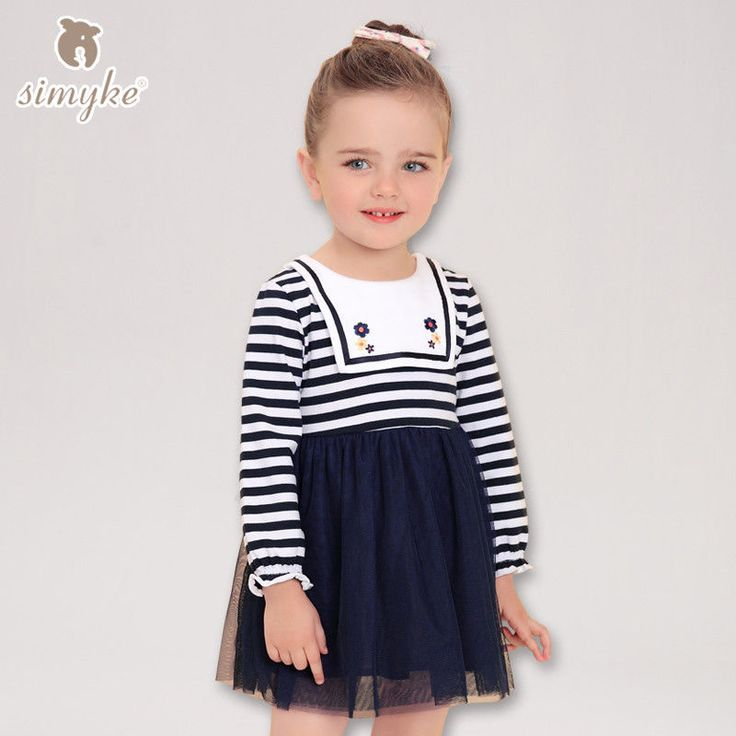 Kids Dresses With Long Sleeve Girls Autumn Sailor Collar  Stripe Dresses Girls | Clothing, Shoes & Accessories, Kids' Clothing, Shoes & Accs, Girls' Clothing (Sizes 4 & Up) | eBay!