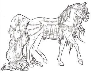 Arabian Horse Coloring Pages Free