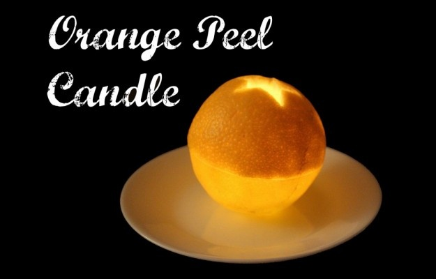 How To Make An Orange Peel Candle | The Polivka Family