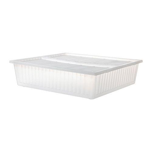 GIMSE Rangement pour lit IKEA Permet d'utiliser l'espace sous le lit pour le rangement. Le couvercle protège le contenu de la poussière.