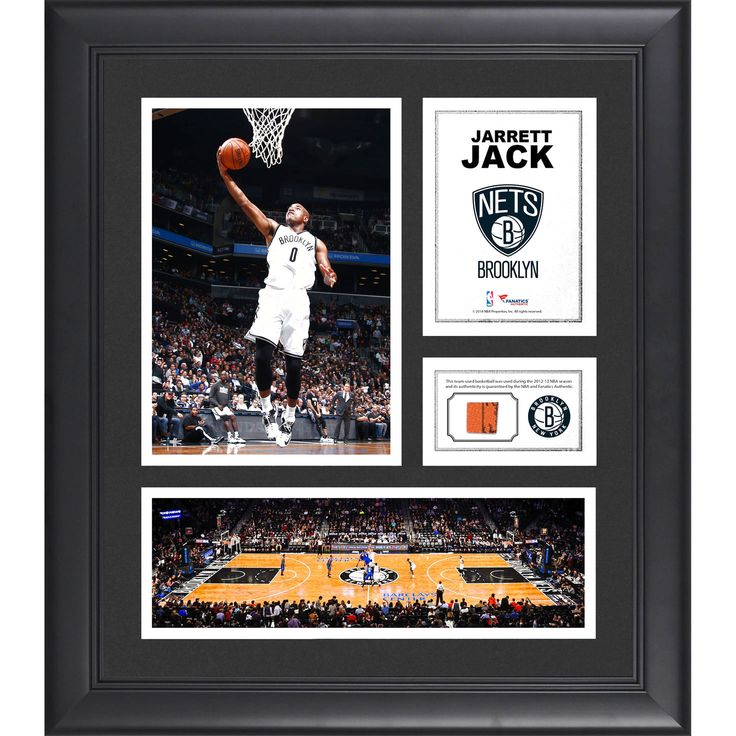 "Jarrett Jack Brooklyn Nets Fanatics Authentic Framed 15"" x 17"" Collage with Team-Used Ball - $63.99"