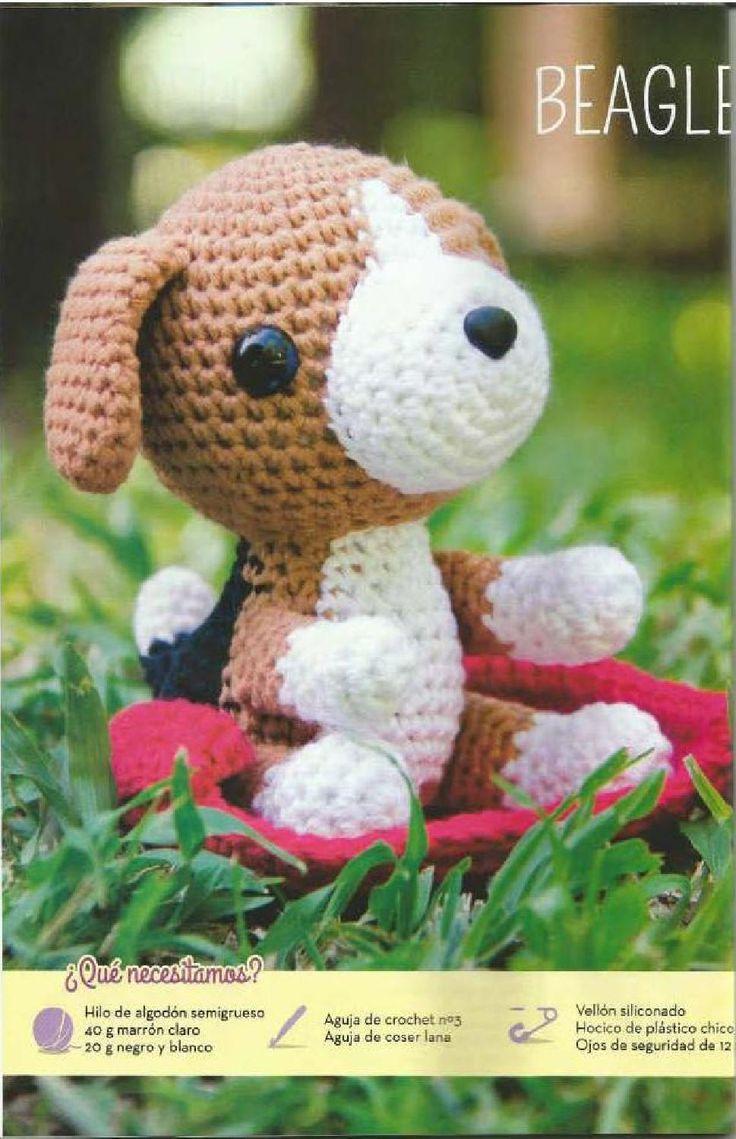 Perrito Beagle Amigurumi - Patrón Gratis en Español - Revista Online - Páginas 22-23-24