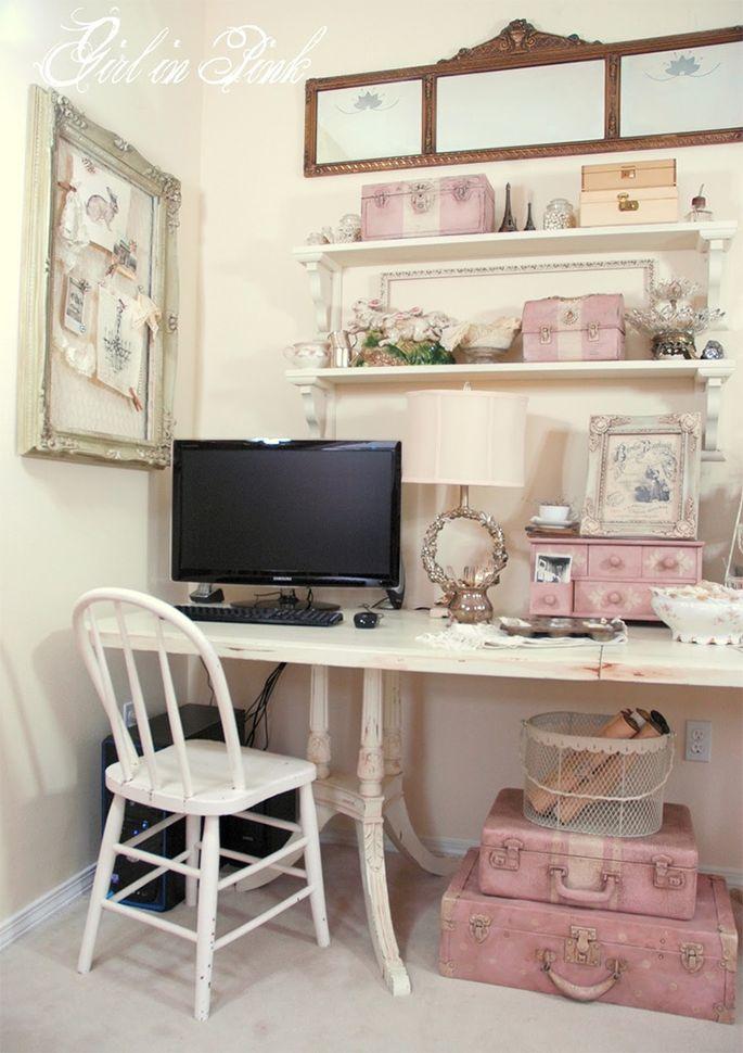 Home office vintage lindo e encantador - Casinha Arrumada
