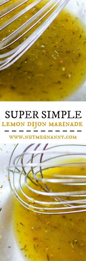Marinada de limón y mostaza Dijon. Para pollo, pescado o carne