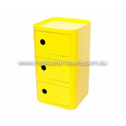 Componibili 3 Drawer Storage Unit Square Replica | Replica Furniture | Designer Modern Classic Furniture