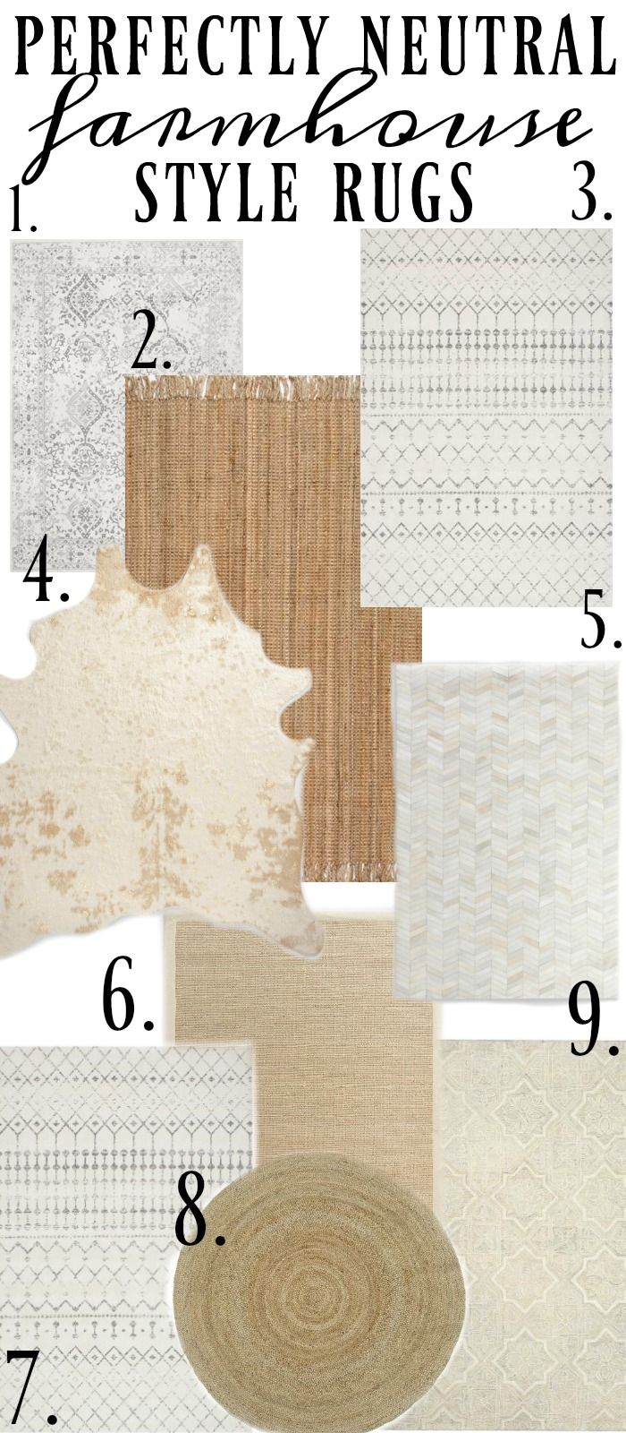 The Best Neutral Farmhouse Style Rugs |