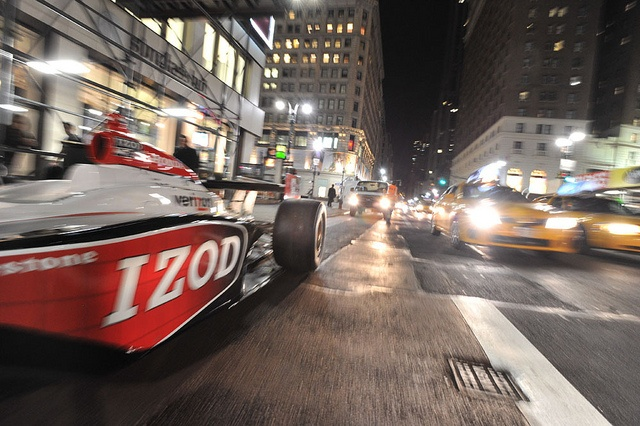 Team Penske Car #6 waits to be loaded into Macy's Herald Square in New York City.: Photo