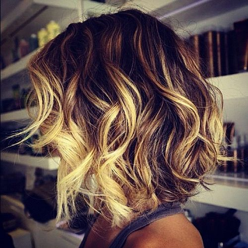 short ombre  highlights | Ombre Highlight for short hair , you can also apply ombre highlight to ...