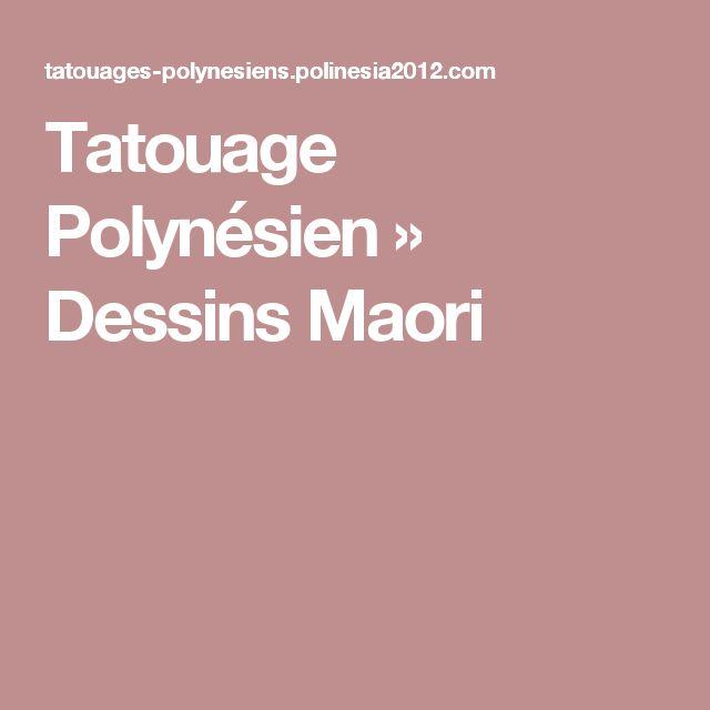 Tatouage Polynésien  »  Dessins Maori