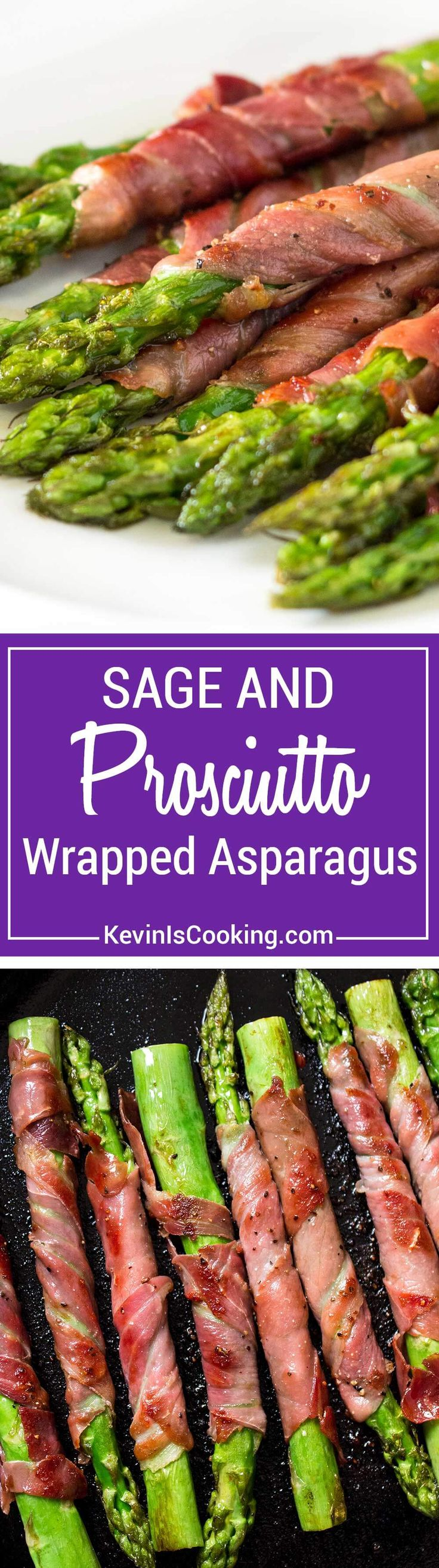 Savory, salty, and crispy, these Asparagus Wrapped in Prosciutto and Sage are such a perfect side dish that can also double as an appetizer. Can't beat that, great for parties and the holidays!