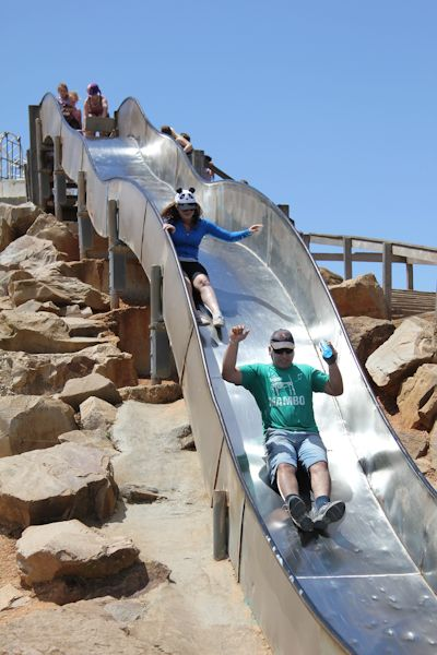 The slippery dip slide loved by both adults and kids! #stkildaplayground @City of Salisbury South Australia 11/11/12